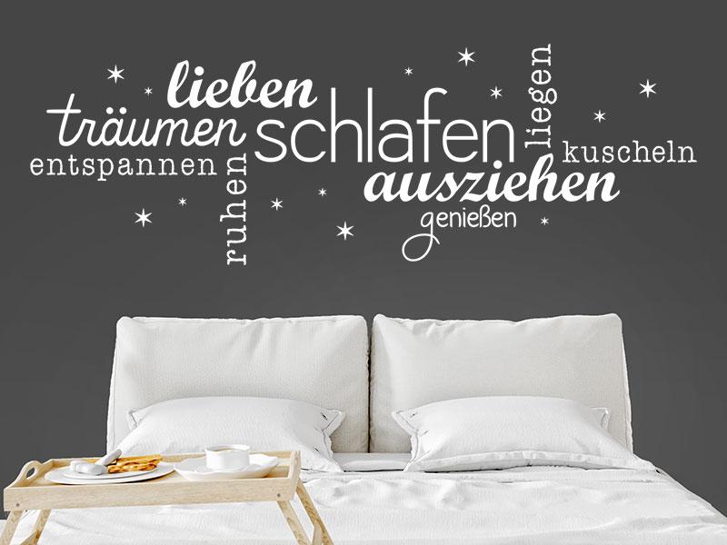 Wandtattoo Schlafen Wortwolke fürs Schlafzimmer | Wandtattoos.de