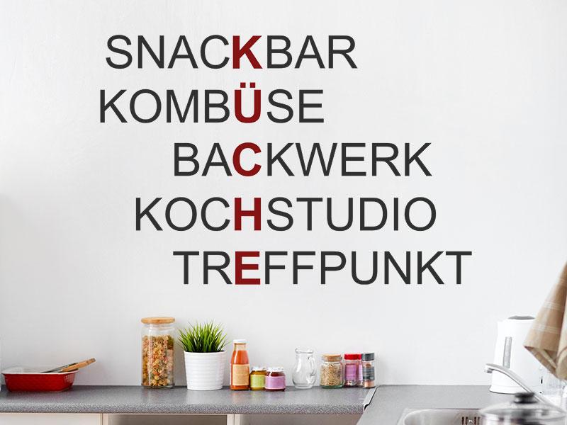 Wandtattoo Kreative Küche | Wandtattoos.de