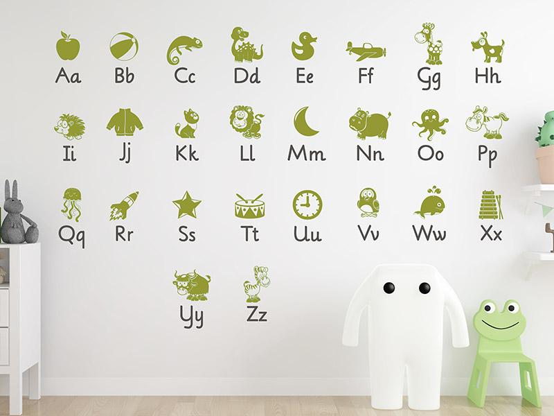 Wandtattoo Kinderzimmer Alphabet | ABC lernen | Wandtattoos.de
