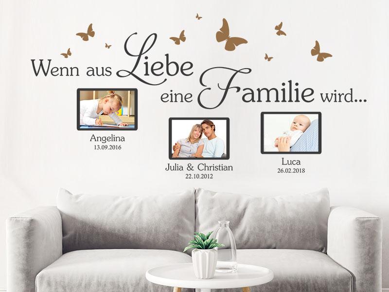 Wandtattoo Fotorahmen Wenn Aus Liebe Eine Familie Wandtattoos De