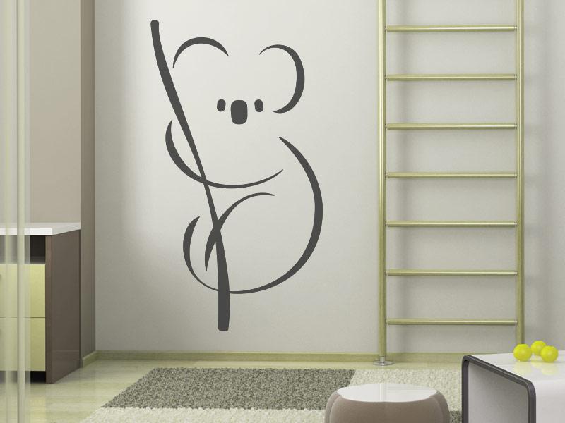 Wandtattoo putziger koalab r koala auf ast for Wandtattoo jugendzimmer