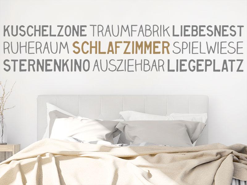 Wandtattoo Bordüre Schlafzimmer | Wandtattoos.de