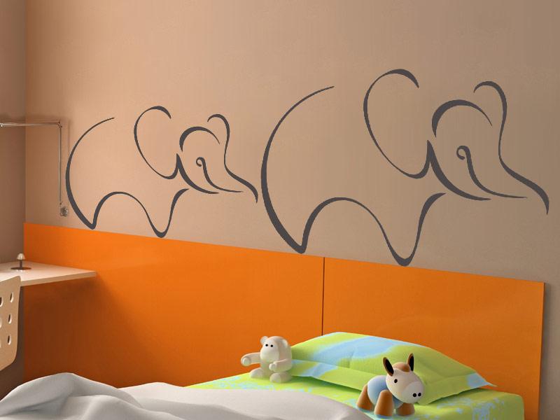 wandtattoo s e elefantendame mit baby. Black Bedroom Furniture Sets. Home Design Ideas