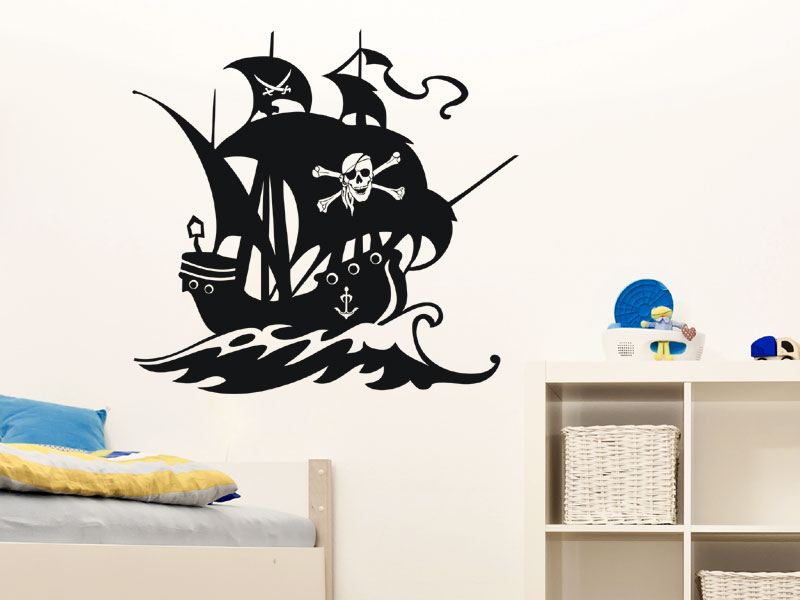 piratenschiff wandtattoo wandtattoo piraten schiff seer uber segelschiff wandtattoos. Black Bedroom Furniture Sets. Home Design Ideas