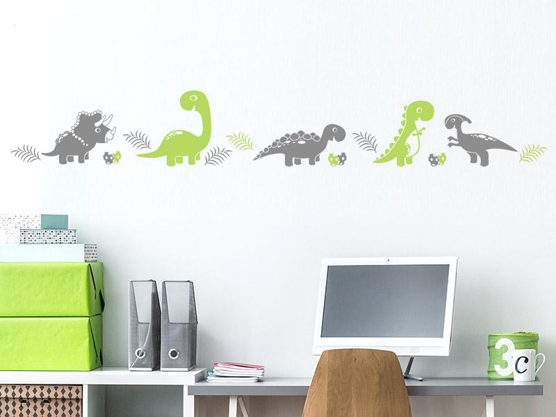 Wandtattoo Bordüre Dinos fürs Kinderzimmer | Wandtattoos.de