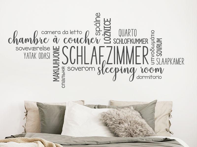 Wandtattoo Schlafzimmer Sprachen Wortwolke | Wandtattoos.de
