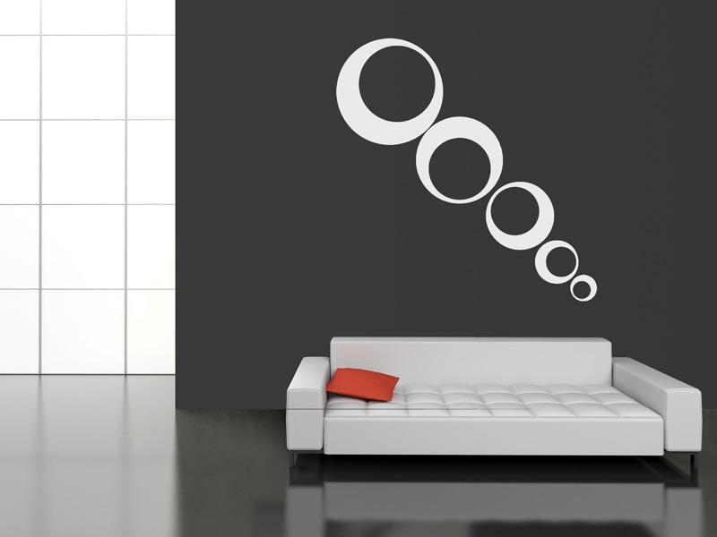 Wandtattoo Kreiskomposition - Moderne Kreise