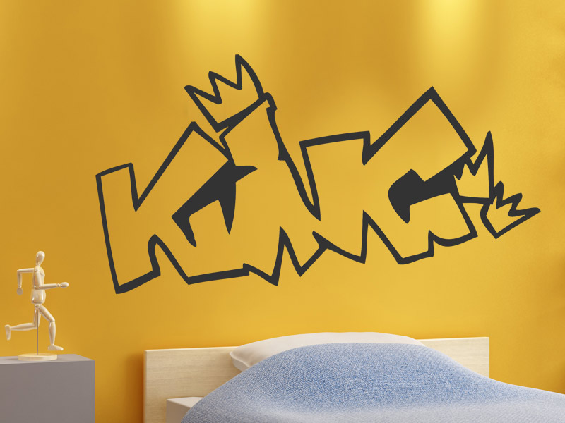 wandtattoo king k nig. Black Bedroom Furniture Sets. Home Design Ideas