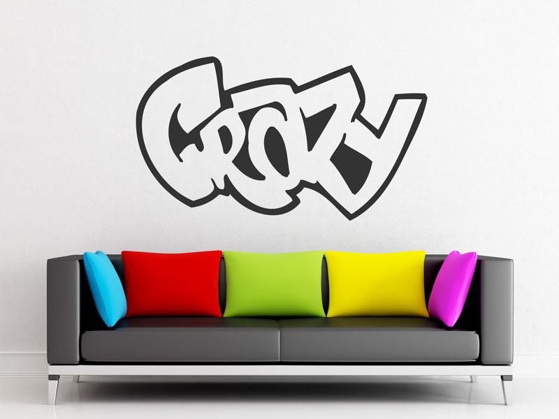 Wandtattoo crazy graffiti for Wandtattoo jugendzimmer