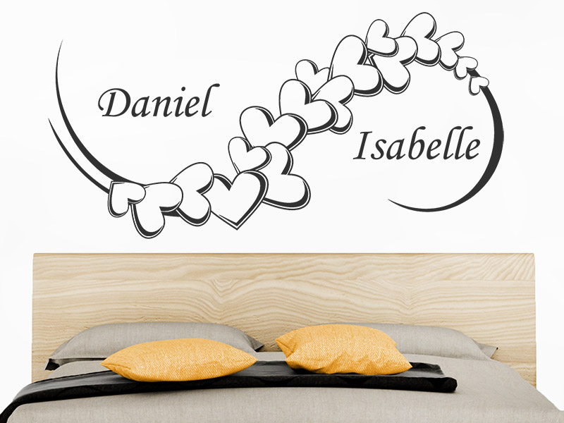ornament herzen wandtattoo herzen ornament bei. Black Bedroom Furniture Sets. Home Design Ideas
