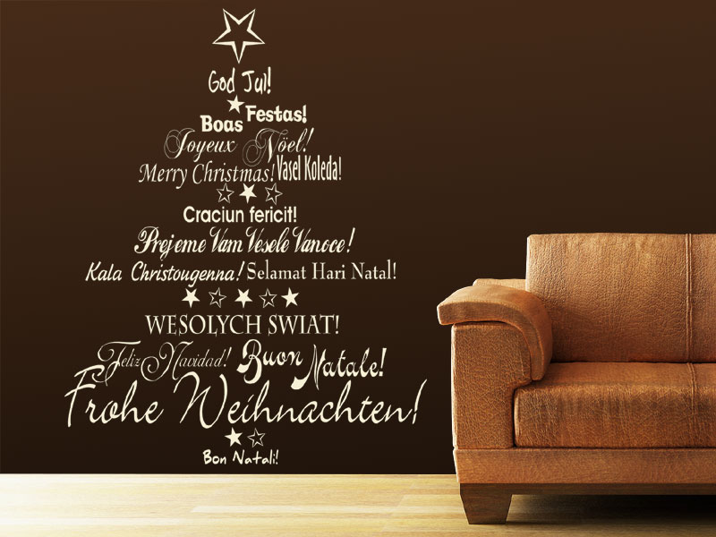 wandtattoo internationaler weihnachtsbaum. Black Bedroom Furniture Sets. Home Design Ideas