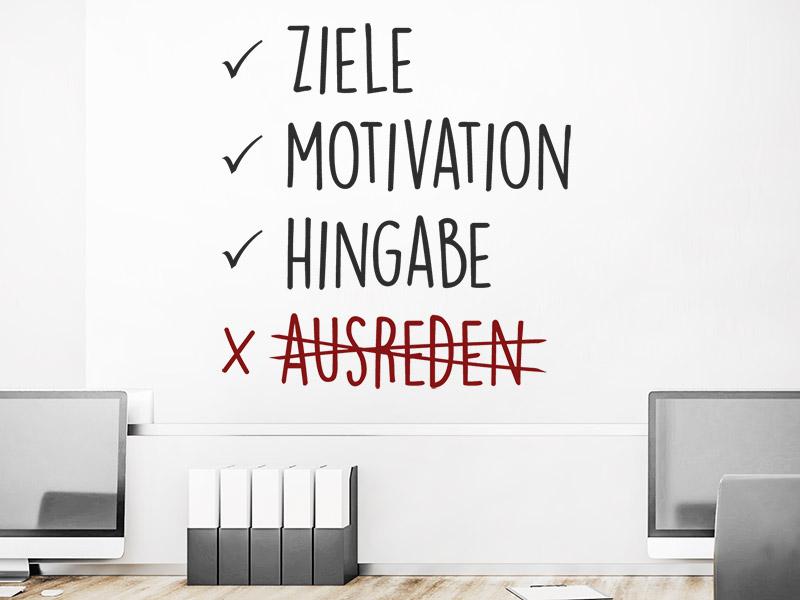 Wandtattoo Ziele Motivation Wandtattoos De