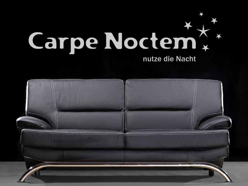 wandtattoo carpe noctem nutze die nacht. Black Bedroom Furniture Sets. Home Design Ideas