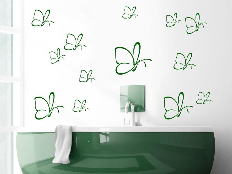 wandtattoo schmetterlinge. Black Bedroom Furniture Sets. Home Design Ideas