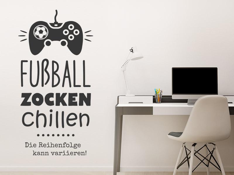 Wandtattoo Fussball Zocken Chillen Wandtattoos De