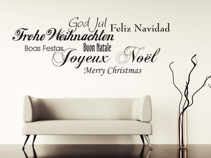 fr hliche weihnachten wandtattoo weihnachten deko bei. Black Bedroom Furniture Sets. Home Design Ideas