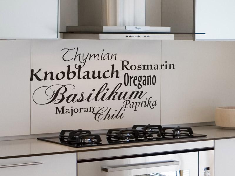 italienische gew rze wandtattoo wandaufkleber bei. Black Bedroom Furniture Sets. Home Design Ideas