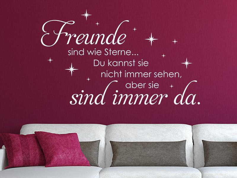 Wandtattoo Freunde sind wie Sterne bei Wandtattoos.de