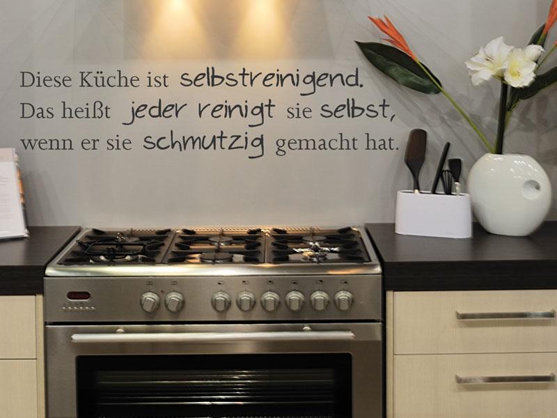 Wandtattoo Diese Küche ist selbstreinigend - Wandtattoos.de