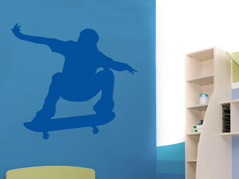 Wandtattoo skateboarder silhouette for Wandtattoos jugendzimmer