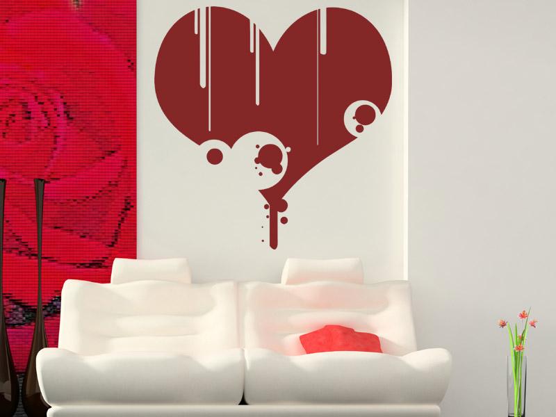 wandtattoo verflossenes herz. Black Bedroom Furniture Sets. Home Design Ideas