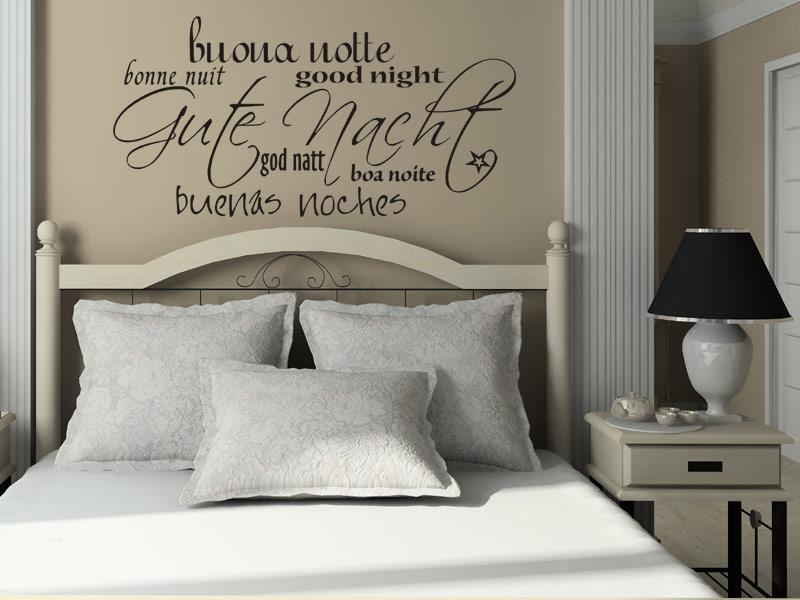 Wandtattoo Schlafzimmer: Begriffe rund ums Schlafen bei Wandtattoos.de