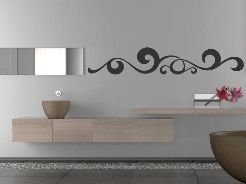 wandaufkleber ornament aus wellen wandtattoo bei. Black Bedroom Furniture Sets. Home Design Ideas