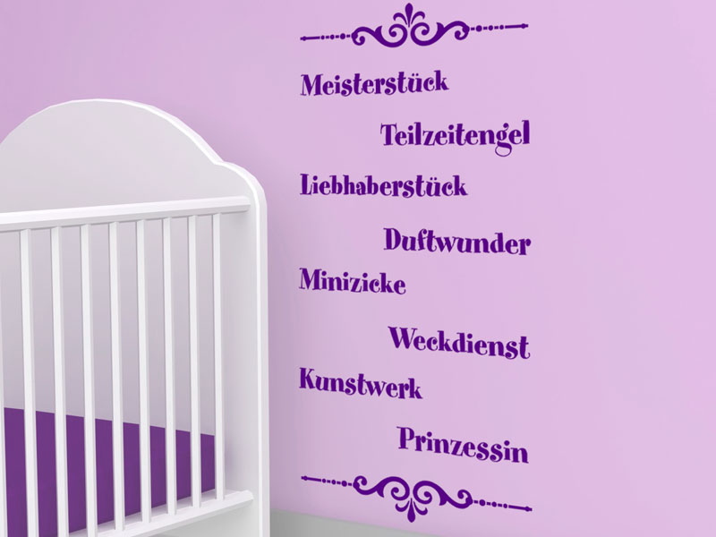 baby wandtattoo baby lustig wandsticker bei. Black Bedroom Furniture Sets. Home Design Ideas