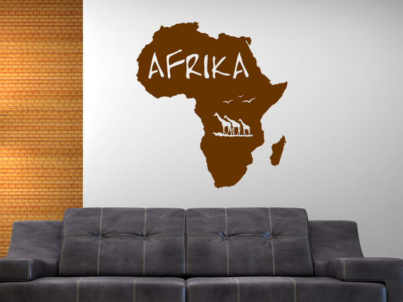 wandtattoo afrika land silhouette. Black Bedroom Furniture Sets. Home Design Ideas