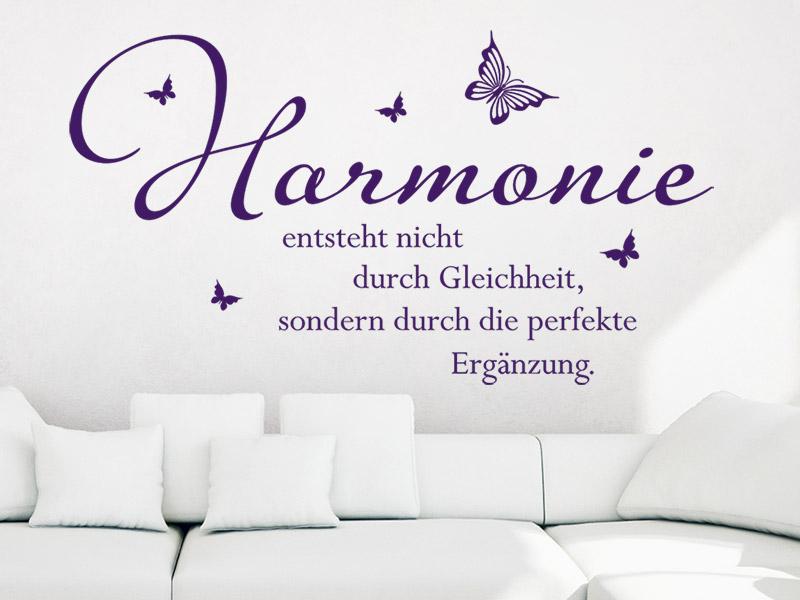 wandtattoo harmonie entsteht spruch bei. Black Bedroom Furniture Sets. Home Design Ideas