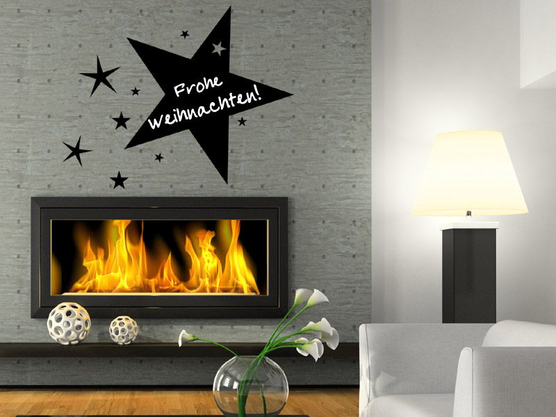 tafelfolie weihnachts stern wandtattoo tafel. Black Bedroom Furniture Sets. Home Design Ideas