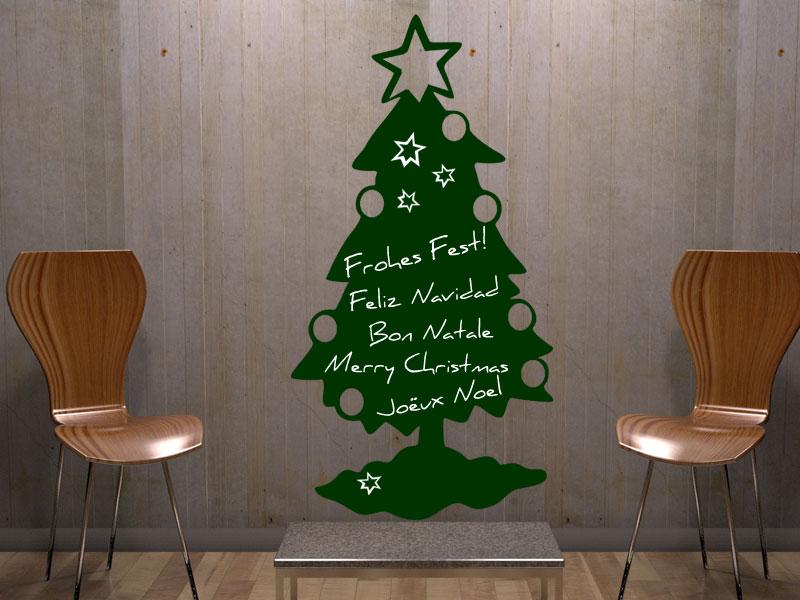 Wandtattoo tafelfolie weihnachtsbaum - Weihnachtsbaum wand ...
