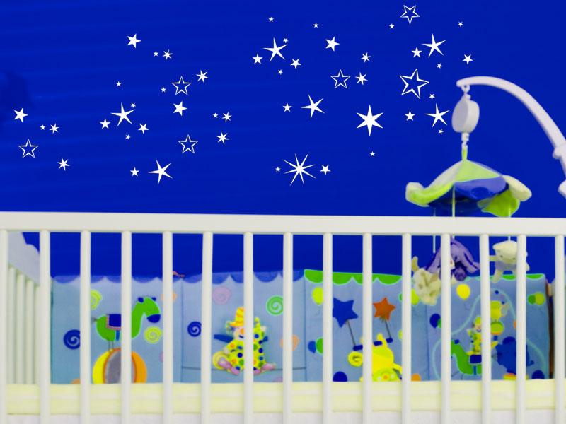 sternenhimmel wandtattoo sterne stars bei. Black Bedroom Furniture Sets. Home Design Ideas