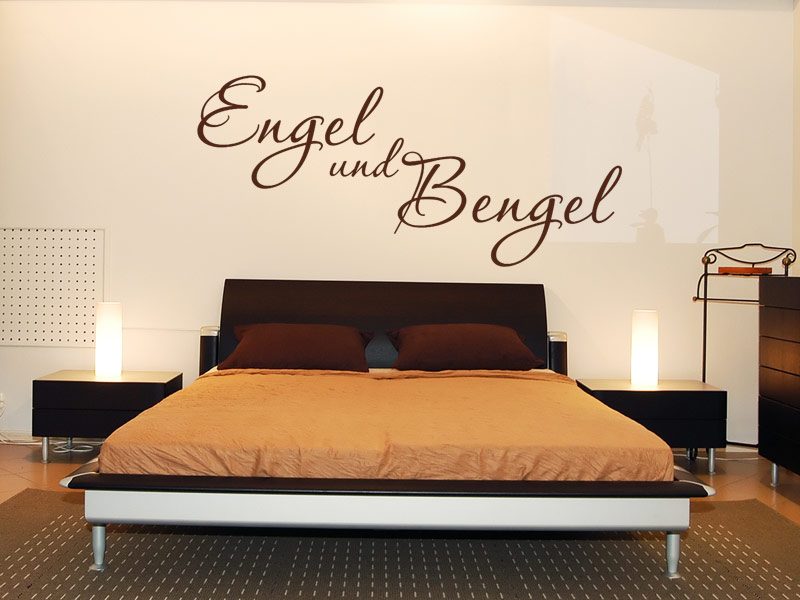 wandtattoo engel und bengel schlafzimmer deko. Black Bedroom Furniture Sets. Home Design Ideas