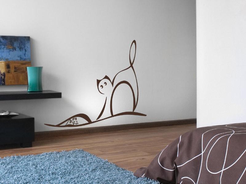 wandtattoo katze und maus mit mauseloch. Black Bedroom Furniture Sets. Home Design Ideas