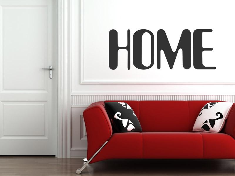 Wandtattoo home zuhause - Wandtattoo home ...
