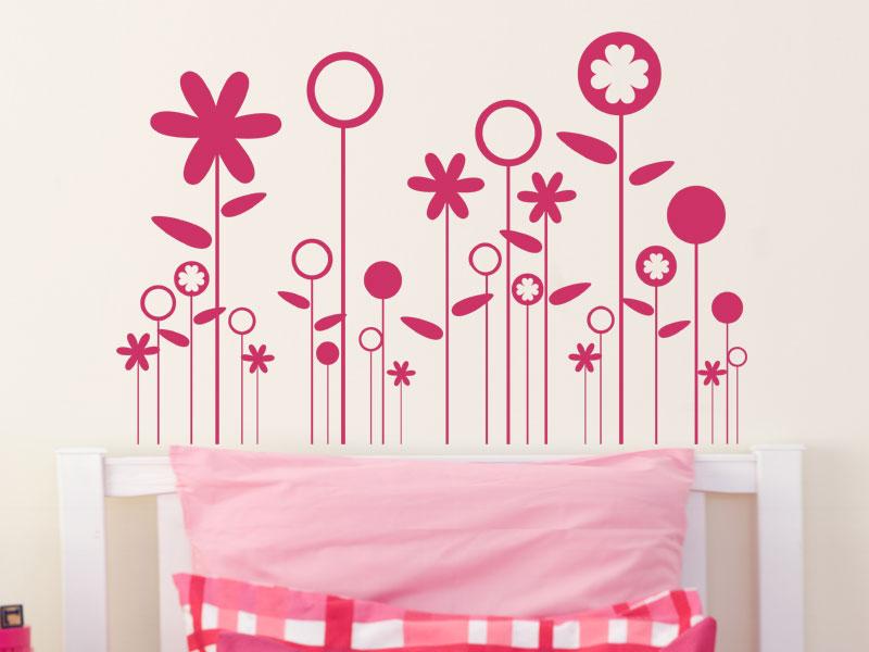 blumewiese wandtattoo blumenwiese bei. Black Bedroom Furniture Sets. Home Design Ideas