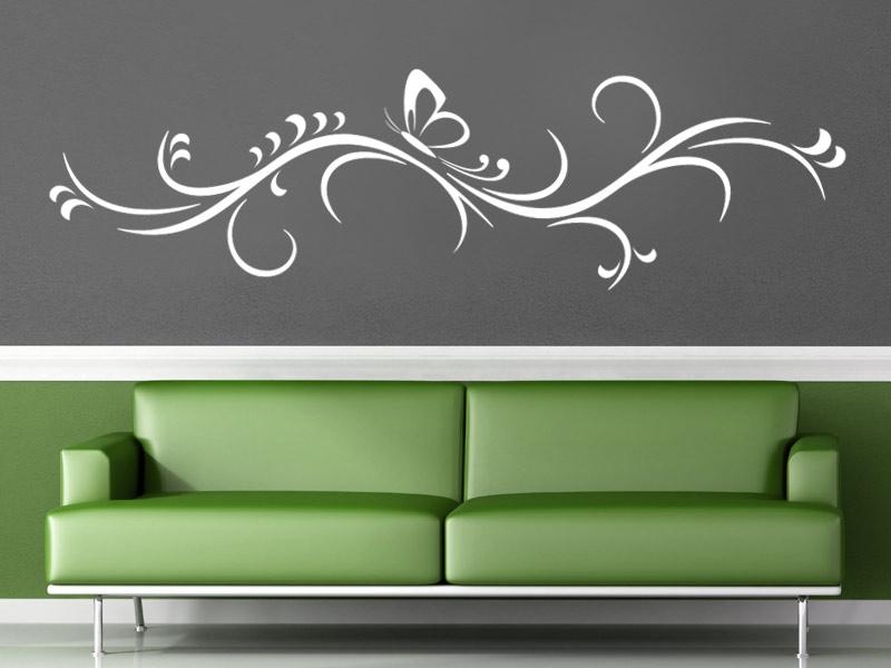ornament wanddeko dekorative ranke wandtattoo bei. Black Bedroom Furniture Sets. Home Design Ideas