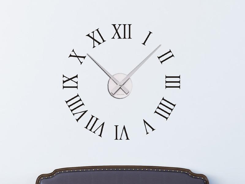 Wanduhr römische zahlen  Wandtattoo Uhr Römische Zahlen Wanduhr - Wandtattoos.de