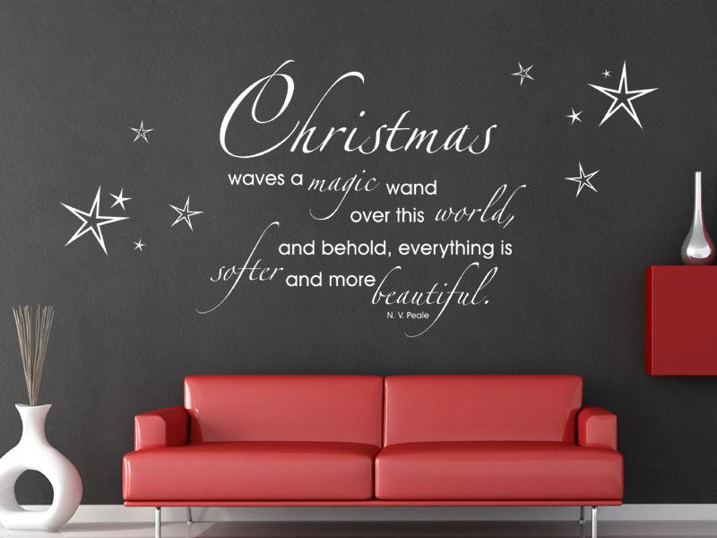 wandtattoo christmas waves a magic wand. Black Bedroom Furniture Sets. Home Design Ideas