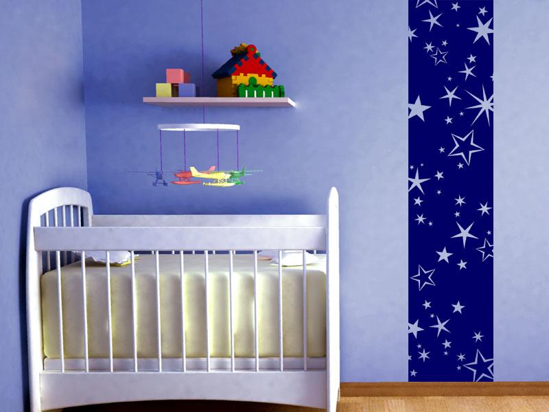 Wandbanner sternenhimmel wandtattoo xxl raumhoch for Sternenhimmel kinderzimmer