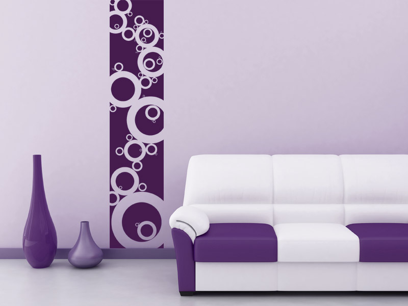 banner kreise wandtattoo wandbanner retrokreise bei. Black Bedroom Furniture Sets. Home Design Ideas