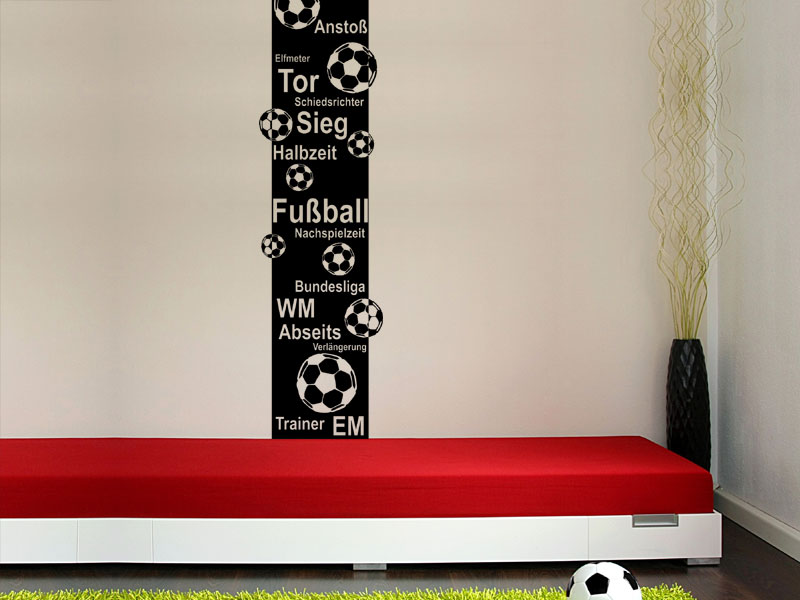 Wandbanner fu ball wandtattoo xxl raumhoch for Fussball kinderzimmer