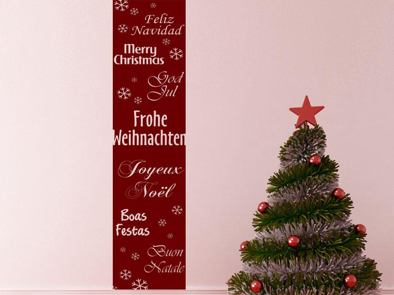 wandbanner fr hliche weihnachten wandtattoo xxl. Black Bedroom Furniture Sets. Home Design Ideas