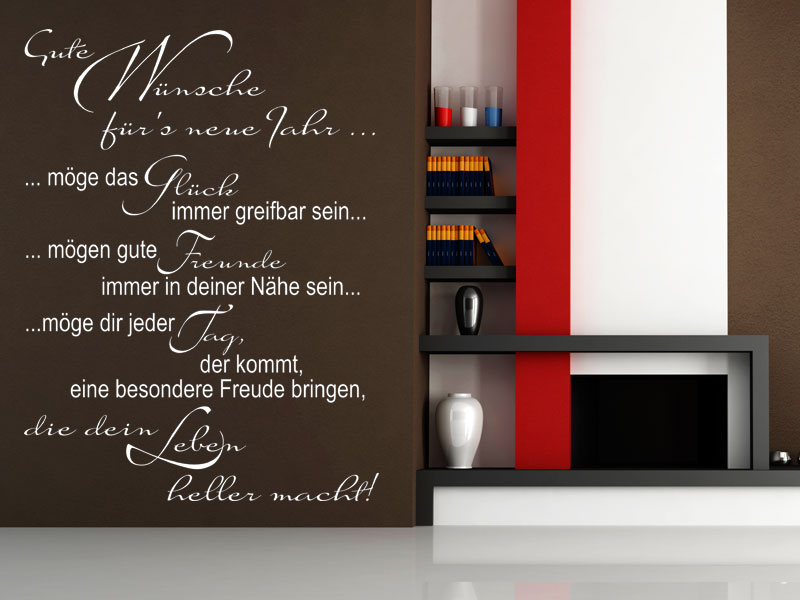 wandtattoo gute w nsche f r s neue jahr. Black Bedroom Furniture Sets. Home Design Ideas