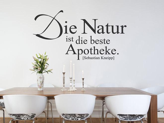 Wandtattoo die natur ist die beste apotheke - Wandtattoo natur ...
