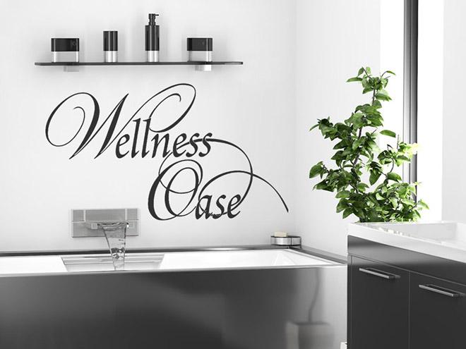Badezimmer Wandtattoo Wellness Oase Tattoo bei Wandtattoos.de