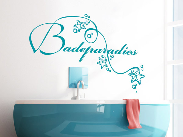badezimmer wandtattoo badeparadies tattoo bei. Black Bedroom Furniture Sets. Home Design Ideas