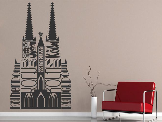 wandtattoo k ln reuniecollegenoetsele. Black Bedroom Furniture Sets. Home Design Ideas