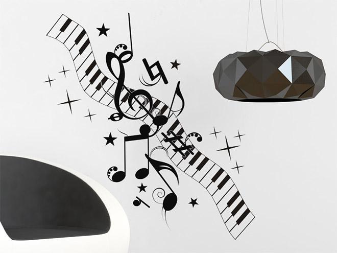 notenornament wandtattoo noten ornament bei. Black Bedroom Furniture Sets. Home Design Ideas